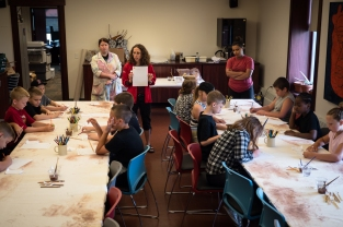 This week in the Garden of Fire, students visited The Rockwell Museum to learn about Native American pottery. They worked with 171 Cedar Arts Center instructors to create and decorate their own coil pot. Images courtesy of Dan Gallagher photography, 2017.